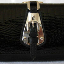 (A106) New Black Croc Leather Wallet Purse Clutch Bag Photo