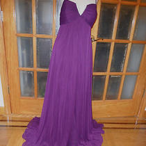 A11615 Made Usa New betsy&adam 3 Layers Purple Mother of the Bride Dress Size 10 Photo
