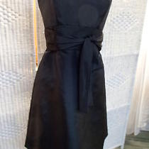 A13 Amsale Black Sz 8 Formal Prom Bridesmaid Gown Dress Photo