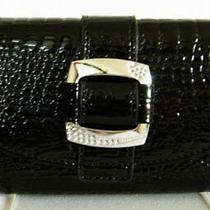 (A153) New Black Croc Leather Wallet Purse Clutch Bag Photo