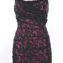 A171 Express Lace Little Black Dress Size 0 Womens Cocktail Sheath Formal Party Photo