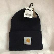 A18 Carhartt Unisex Acrylic Watch Winter Hat Navy Blue Photo