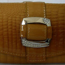 (A186) New Tan Croc Leather Wallet Purse Clutch Bag Photo