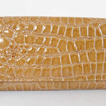 (A189) New Tan Brown Croc  Wallet Purse Clutch Bag Photo
