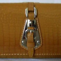 (A196) New Gorgeous Tan Croc Leather Wallet Purse Clutch Bag  Photo