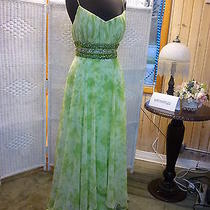 A287 Blush Prom 9028 Sz 14 Lime Green Prom Pageant Formal Gown Dress Photo