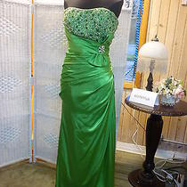 A288 Blush Prom 9211 Sz 14 Apple Green Prom Pageant Formal Gown Dress Photo