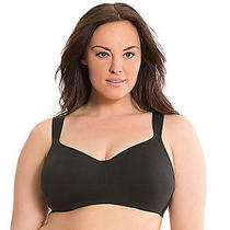 A36 Lane Bryant Cacique Cotton Lined No-Wire Wireless Full Coverage Bra 46d Photo