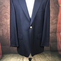 A5 Ralph Lauren Navy Blue Chaps Blazer Gold Button Sport Coat Jacket 44 T Photo