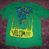 A6 Fun Men's Volcom Green T-Shirt Shirt Size L Photo