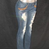A7 Super Jeans Gold -30 - Fully Embellished With Swarovski Elements   Photo