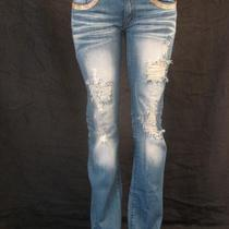 A7 Super Jeans  Gold -31-  Fully Embellished With Swarovski Elements   Photo