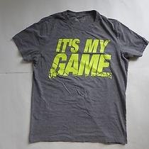 A87 Aeropostale It's My Game Heather Gray Graphic T-Shirt Size Large Athleticfit Photo