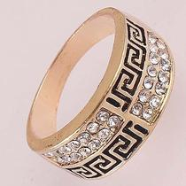Aaa Women Men 14k Rose Gold Filled Us Size 10.5 Crystal Cross Ring Jewelry Kc589 Photo