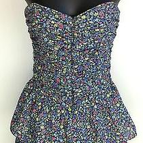 Abecrombie & Fitch 100% Cotton Floral Tiered Corset Top Size Xs Photo