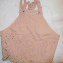 Abercrombie and Fitch Blush Pink Eyelet Sleeveless Lined Crop Top Xs Photo