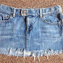 Abercrombie and Fitch Jean Mini Skirt Size 6 Mint Condition Photo