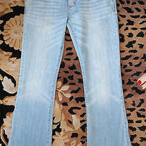 Abercrombie and Fitch Jeans Light Wash Woaist 24 Inseam 30 Boot Cut Photo