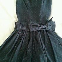 Abercrombie and Fitch Kids Navy & Red Dot Dress.  Size Small 6/7 Gently Worn Photo