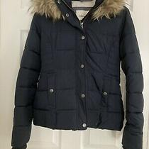 Abercrombie and Fitch Navy Hooded Jacket Womens Xxs Nwt Navy Blue Photo