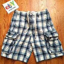 Abercrombie and Fitch Plaid Cargo Shorts Size 31 Mens Photo