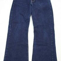 Abercrombie and Fitch Womens Bootcut Jeans Size 10 Dark Blue Denim  27.5 Inseam Photo