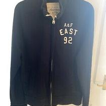 Abercrombie and Fitch Zip Up Sweat Shirt Navy Blue Medium Photo