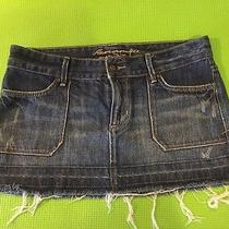 Abercrombie Blue Jean Skirt  Size 4 Jr's  Free Shipping Photo