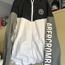 Abercrombie Boys Youth Size 13/14. Lined Fleece Hoodie Jacket. Zip Up Closure Photo