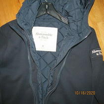 Abercrombie Dark Blue Hoodie Jacket Womans Size Medium Super Soft & Warm ..lqqk Photo