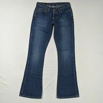 Abercrombie & Fitch 1892 Womens Jeans 0 Reg Flare Blue Denim Pant W26 L30 Button Photo