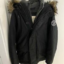 Abercrombie & Fitch a&f Men's Panther George Parka Jacket Black - Small Faux Fur Photo