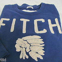Abercrombie & Fitch a & F Muscle Shirt Blue Medium Chief New Photo