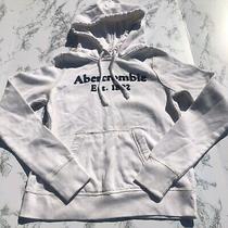Abercrombie & Fitch Basic White Logo Sweatshirt Size Xs Preowned Photo