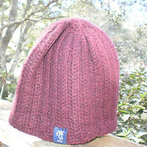 Abercrombie & Fitch Burgundy Knit Winter Hat Children's One Size Photo