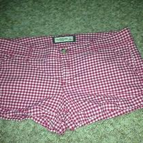 Abercrombie & Fitch Cuff Shorts Pink Gingham Never Worn Size 4 Photo