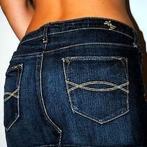 Abercrombie & Fitch Dark Blue Jean Sexy Lil Short Mini Skirt Sz 6 28 Photo