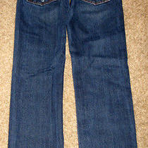 Abercrombie & Fitch Dark Button Fly a&f Slim Straight Jeans - Men / Boys 28x30 Photo