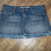 Abercrombie & Fitch Denium/jean Mini Skirt Sz 4 Photo