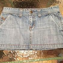 Abercrombie & Fitch Distressed Mini Jean Skirt - Size 4 - T3 Photo