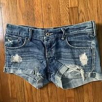 Abercrombie & Fitch Girls Denim Shorts Size 16 Photo