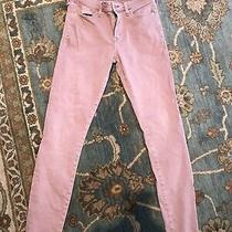 Abercrombie & Fitch Harper Super Skinny Jeans Raw Hem Blush Muted Pink Size 26 Photo