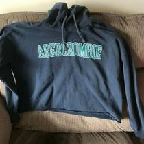 Abercrombie & Fitch Hoodie Hooded Crop Sweatshirt Navy Blue Size Xl Photo