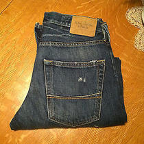 Abercrombie & Fitch Horton Straight Fit Distressed Jeans 28 X 30 Very Nice Photo