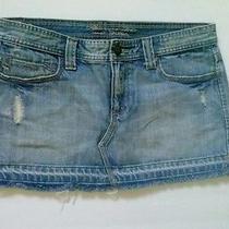 Abercrombie & Fitch Junior Denim Skirt Sz 4 Photo