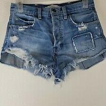 Abercrombie Fitch Juniors  Blue Jean Denim Short Shorts Summer Sz 0/w 25 Photo