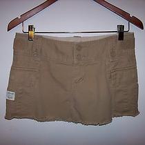 Abercrombie & Fitch Khaki Cargo Mini Skirt Sz 2 Photo