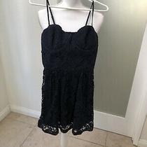 Abercrombie & Fitch Lace Corset Dress Navy Size Medium Photo