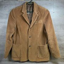 Abercrombie & Fitch Mens Large Corduroy Jacket Blazer Brown 3 Button Photo