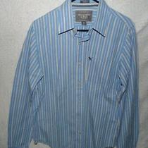 Abercrombie & Fitch Men's Medium 100% Cotton Long Sleeve Button Up Shirt Photo